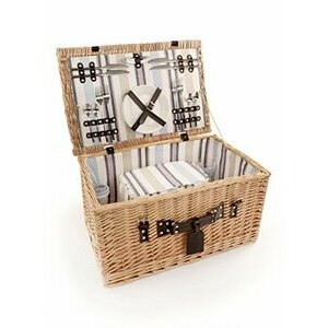 Greenfield Collection Ludlow Willow Picnic Hamper for Four
