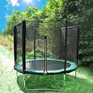 Greenbay 8FT Garden Trampoline Set With Jumping Mat Safety Net