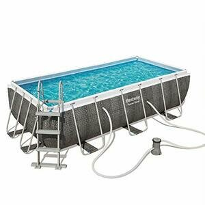 Bestway Power Steel Rectangle Frame Swimming Pool with Filter Pump