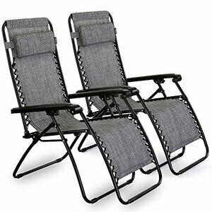 VonHaus  2 Premium Heavy Duty Textoline Zero Gravity Chairs
