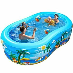 iBaseToy Inflatable Swimming Pool for Ages 3+