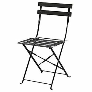 Bolero 2 x Pavement Style Steel Chairs (Black)