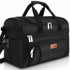 BALORAY Large Insulated Bag Waterproof Cooler Bag (Black)