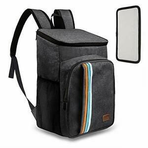 TOMSHOO 30L Cooler Backpack, Picnic Backpack for 2-4 Charcoal Colour