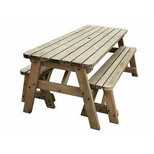 Victoria Wooden Picnic Table and Benches Set