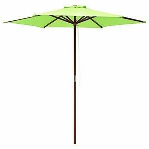 ReaseJoy 2.4m Wooden Umbrella Parasol Patio