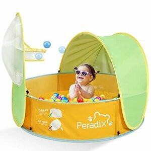 Peradix Kids Ball Pit Play Tent / Paddling Pool for Kids 2 in 1