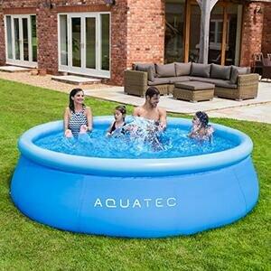 AquaTec Family Blow Up Swimming Pool
