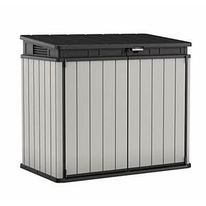 Keter Store It Out Premier XL Plastic Garden Storage Shed (Grey and Black)