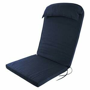 Plant Theatre Adirondack High Back Cushion with Head Pillow (Navy)