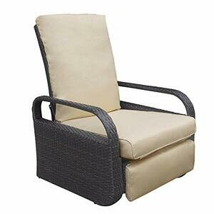 ATR ARTTOREAL Garden Reclining Chair with Khaki Cushions