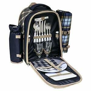 Andes 2 Person Deluxe Picnic Set Hamper Backpack/Rucksack