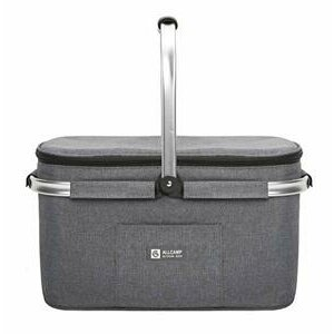 ALLCAMP 32L Collapsible Insulated Picnic Basket For 4