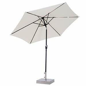 Outsunny 2.7m Garden Umbrella Outdoor Parasol (Cream White)