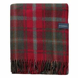 The Tartan Blanket Co. Recycled Wool Blanket Dark Maple Tartan