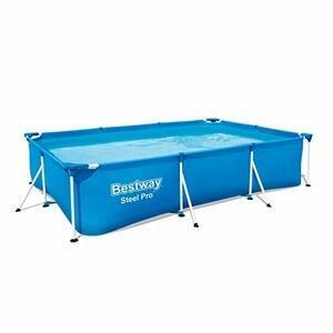 Bestway Rectangular Steel Frame Swimming Pool, - 9.1 ft
