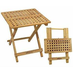 Woodside Belford Wooden Folding Garden/Picnic Coffee Table