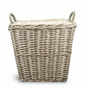 Square Rustic Countryside Style Wicker Log Basket
