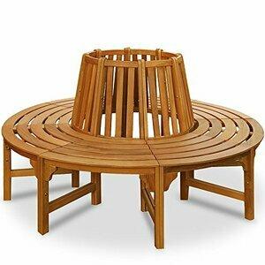 Deuba Wooden Tree Bench 190 cm