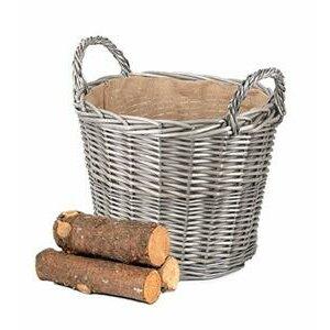 Wrenbury Willow Round Log Basket