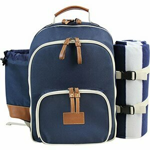 INNO STAGE Insulated Picnic Backpack for 4 (Navy Blue)