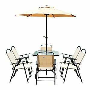 Outsunny 8 Piece Dining Set Patio Furniture Set