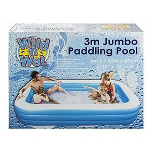 HomestreetUK Extra Large Family Outdoor Rectangular Padding Pool