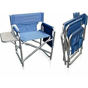 MP Essentials  Sports Directors Chair with Table (Blue)