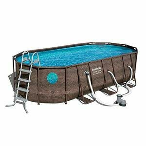 """Bestway 56717E 18' x 9' x 48""""  Above Ground Oval Swimming Pool Set"""