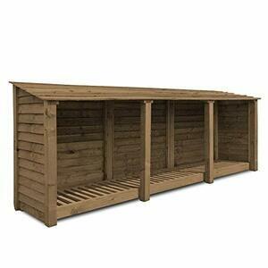 Rutland County 4ft Tall Log Store/Garden Storage (Rustic Brown)