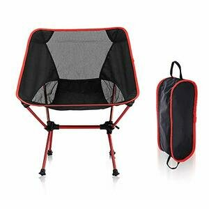 HUSTLE Portable Camping Chair (Red)