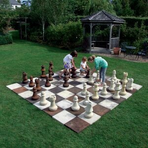 Statues & Sculptures Stone Chess Set Board & Pieces