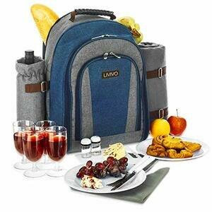 LIVIVO 4 Person Picnic Hamper Backpack Rucksack