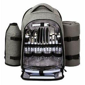 Hap Tim luxury 4 Person Picnic Backpack/Rucksack (EU3263-Grey)