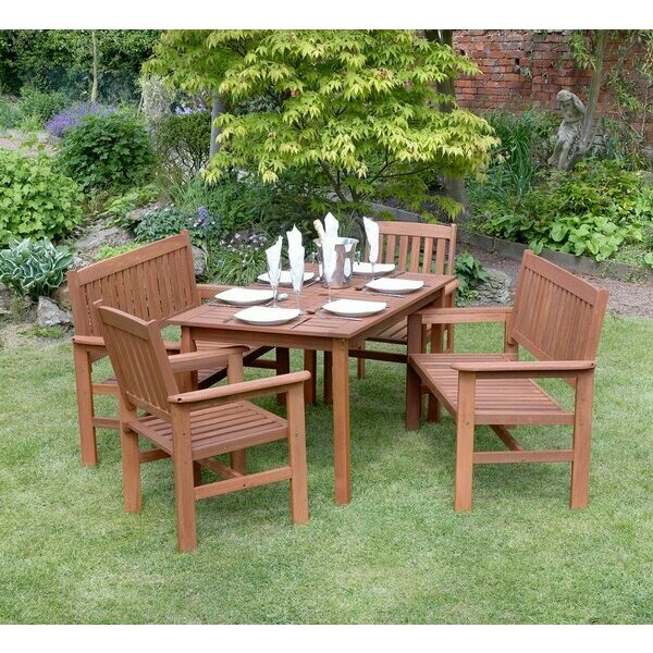 Outdoor Wooden Bench Furniture set