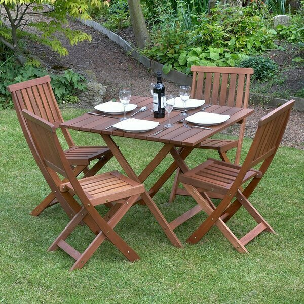 Outdoor Wooden Table & Chair Set
