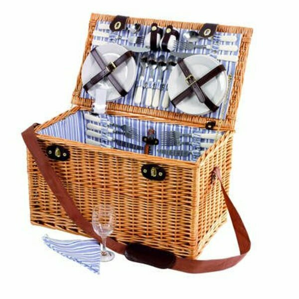 Sandringham 6 Person Wicker Picnic Basket Hamper