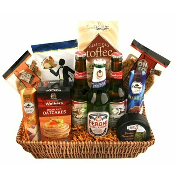 Beer and Snacks Picnic Hamper
