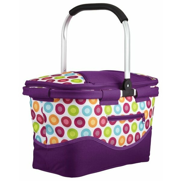 Polka style collapsible cool basket