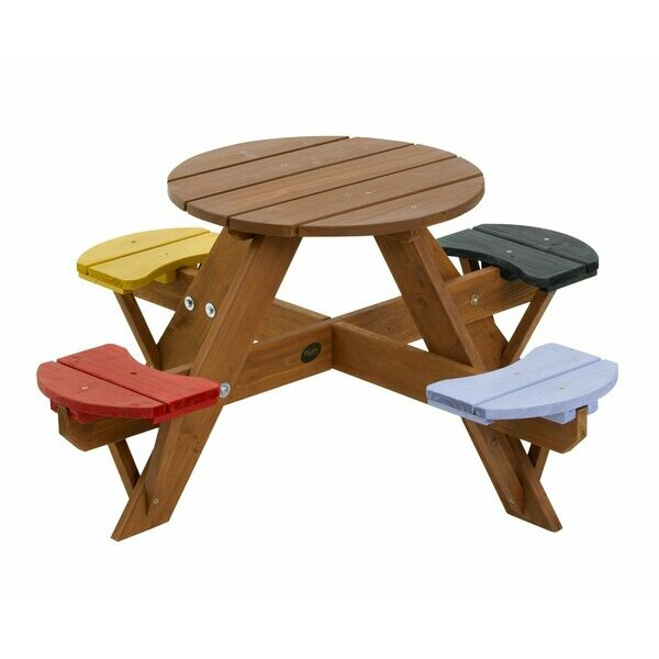 Plum Children's Garden Table with Seats
