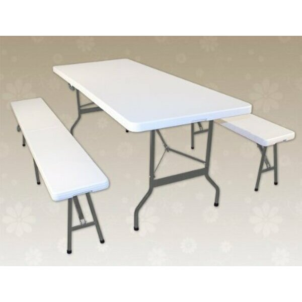 Portable Picnic Table & Bench Set