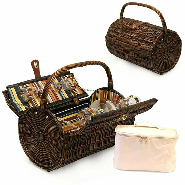 Cantley Wicker Barrel Basket for Four