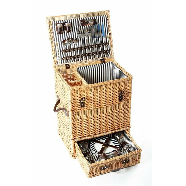 Greenfield Collection Carlton Picnic Basket for Four