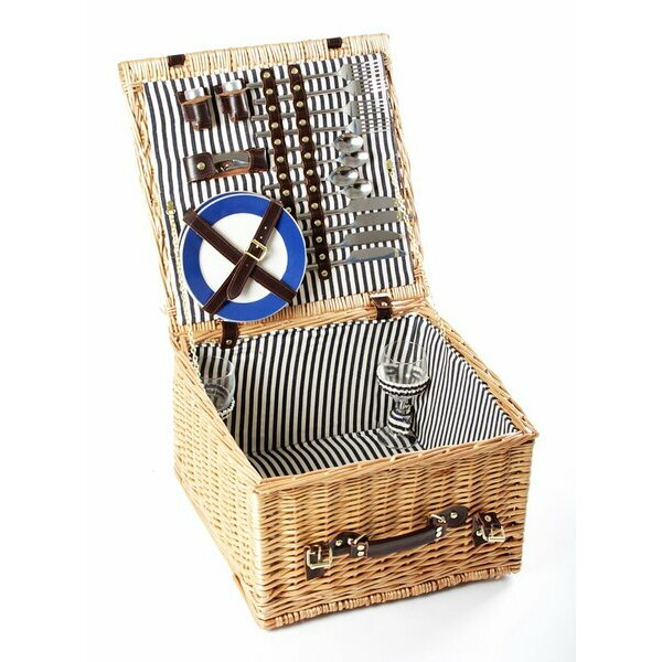 Greenfield Collection Winchester Picnic Basket for Four