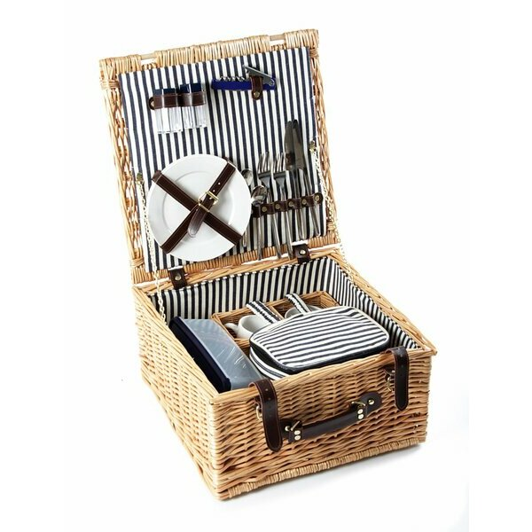 Greenfield Collection Sandbanks Picnic Basket for Two